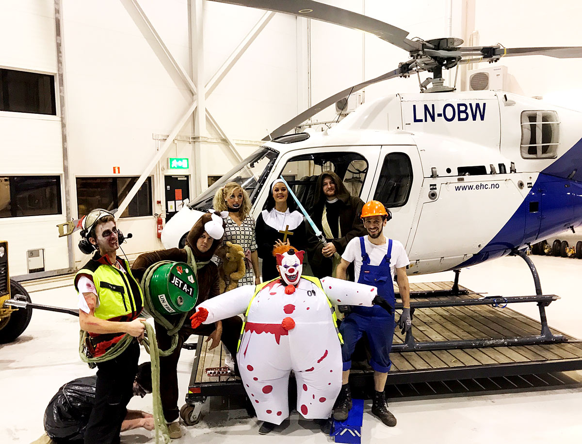 Happy Heli-ween from the hangar