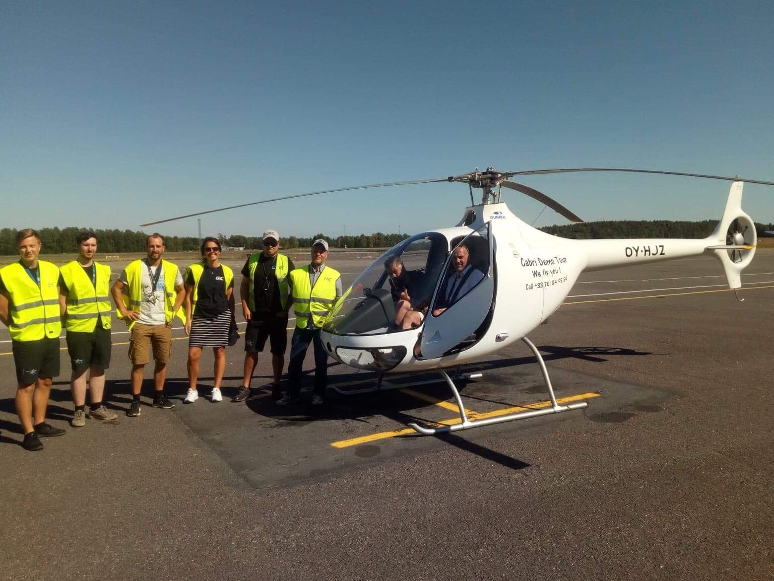 A warm welcome to our friends from Guimbal Helicopters